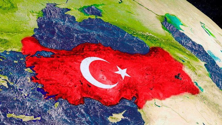 Расположение Турции на земном шаре