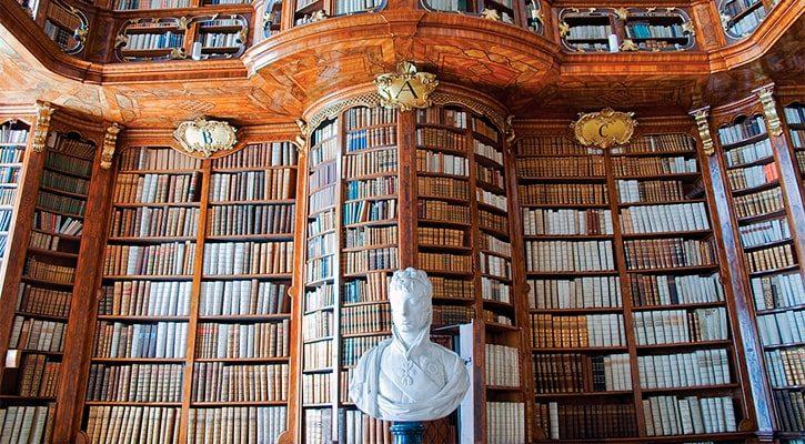 Старая Библиотека аббатства Санкт Флориан, Австрия — Фото автора tepic