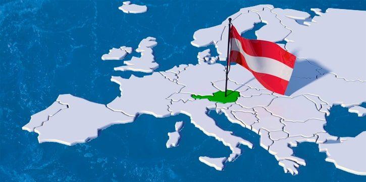 Расположение Австрии на карте