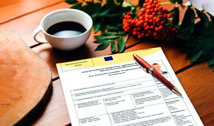 Анкета на австрийскую визу